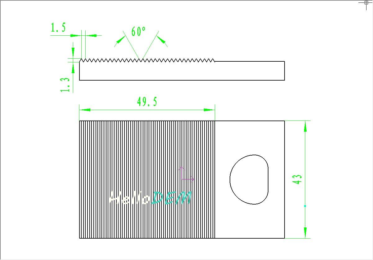 角度铣刀加工锯齿平板宏程序编程